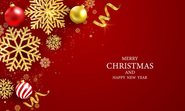 Prettige kerstdagen en gelukkig nieuwjaar wenskaart Premium Vector